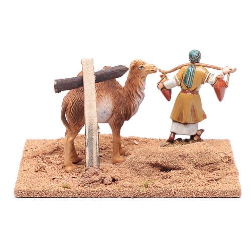 Pèlerin avec chameau 10x19x15,5 cm 4