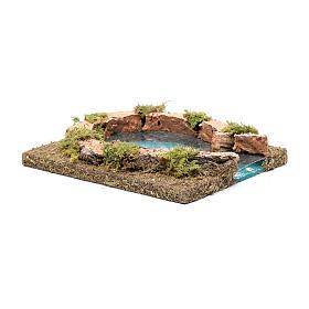 Teich mit Flüsseinmündung, 15x15 cm s3