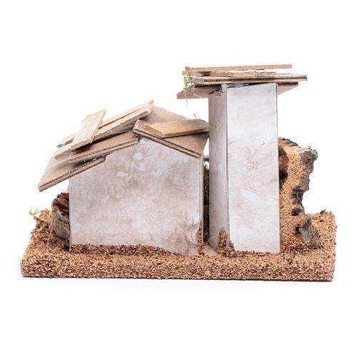 Little wooden and plaster house 10x15x10 cm 4