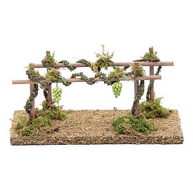 Moss, Trees, Palm trees, Floorings: Nativity scene vineyard 10x15x10 cm