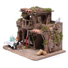 Inn with drinker for nativity scene 20x30x20 cm s2