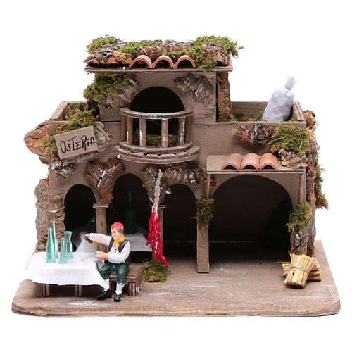 Inn with drinker for nativity scene 20x30x20 cm 1