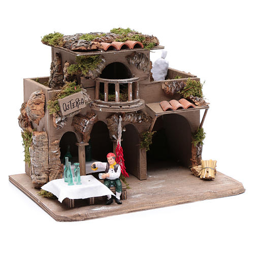 Inn with drinker for nativity scene 20x30x20 cm 3