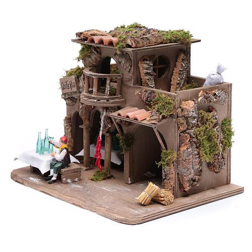 Inn with drinker for nativity scene 20x30x20 cm 2