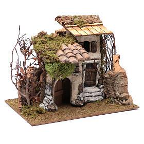 Farmhouse with vine in gypsum 25x30x25 cm s3