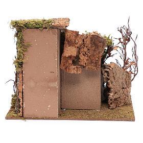 Farmhouse with vine in gypsum 25x30x25 cm s4