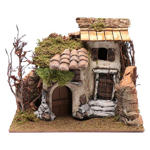 Farmhouse with vine in gypsum 25x30x25 cm 1