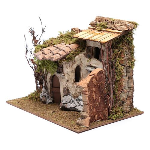 Farmhouse with vine in gypsum 25x30x25 cm 2