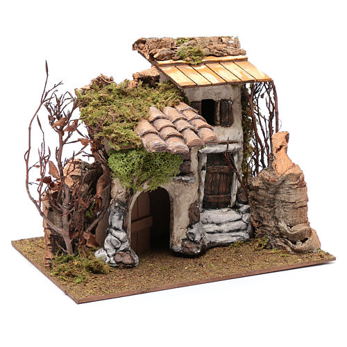 Farmhouse with vine in gypsum 25x30x25 cm 3