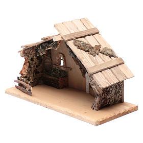 Cabana vazia em madeira maciça e cortiça 25x45x20 cm s2