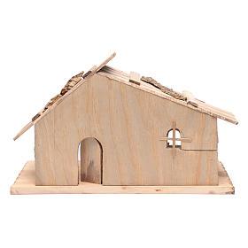 Cabana vazia em madeira maciça e cortiça 25x45x20 cm s4