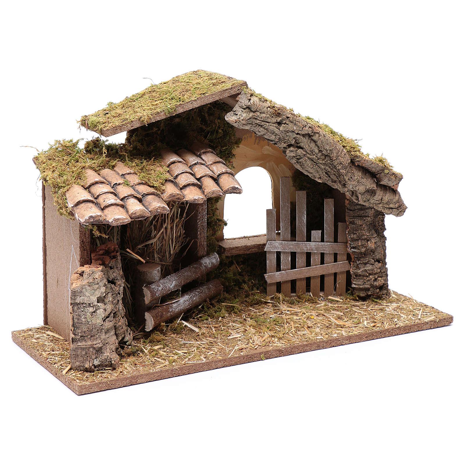 Hütte mit Gehege 25x40x20 cm 4