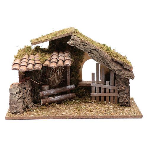 Hütte mit Gehege 25x40x20 cm 1