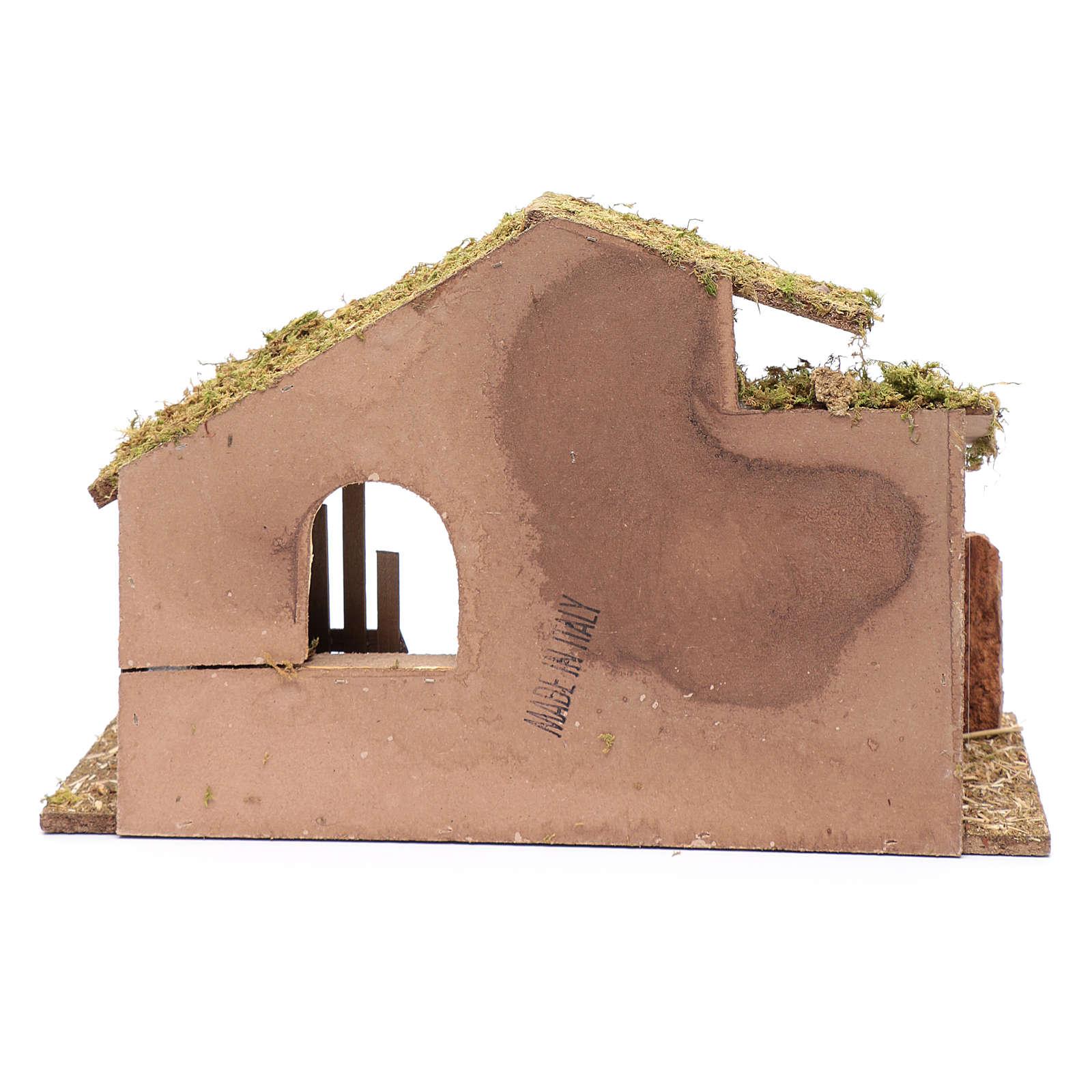 Cabane vide avec palissade 26,5x42x18 cm 4