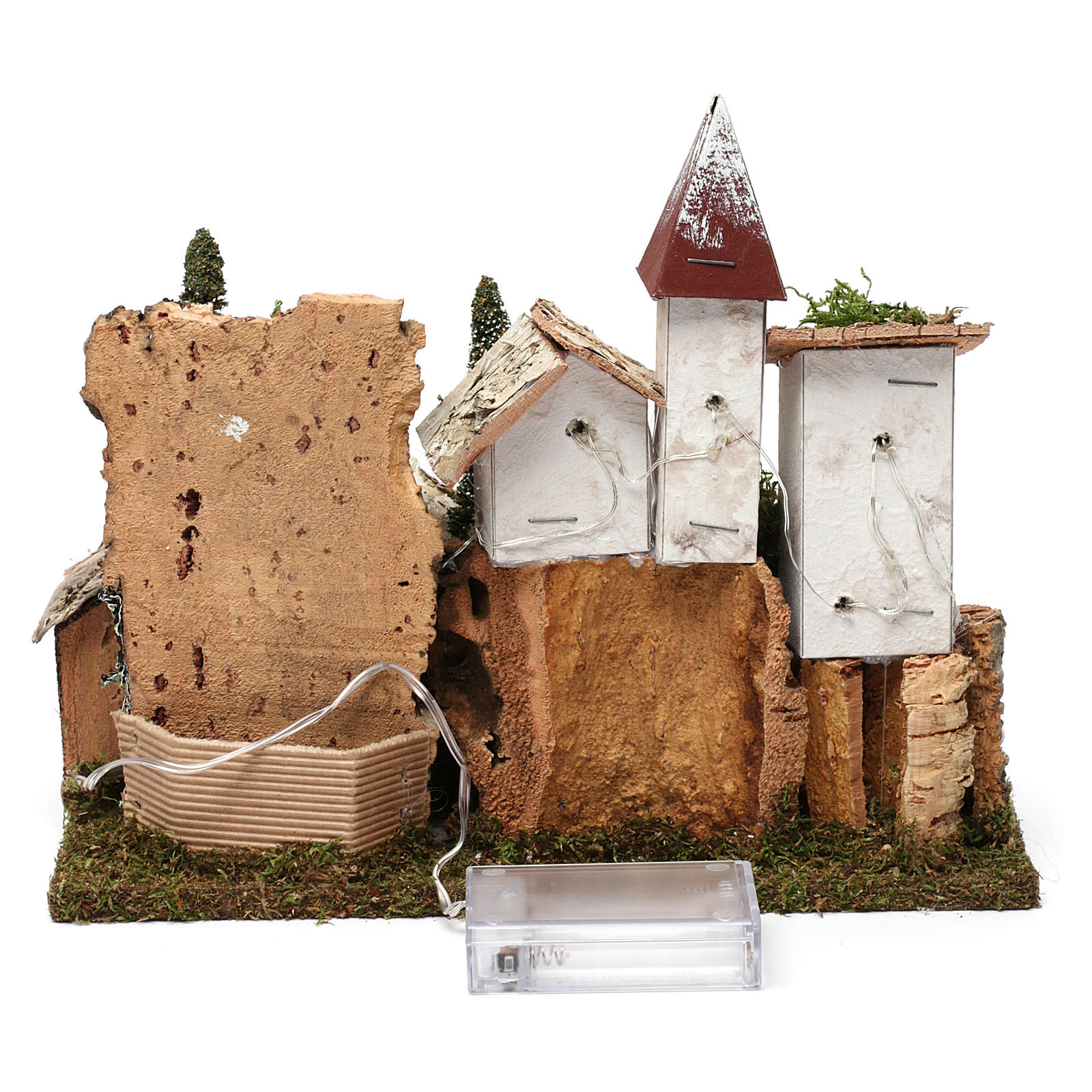 Nordic nativity scene village  20x25x20 cm 4
