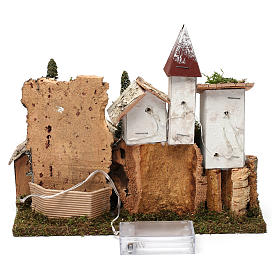 Nordic nativity scene village  20x25x20 cm s4