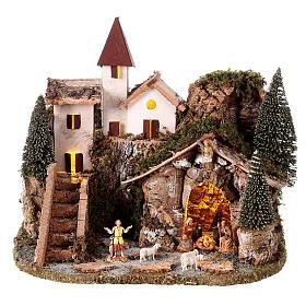 Nordic nativity scene village  20x25x20 cm s1