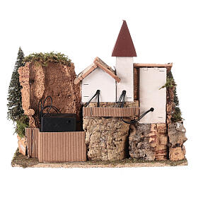 Nordic nativity scene village  20x25x20 cm s5
