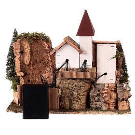 Nordic nativity scene village  20x25x20 cm s6