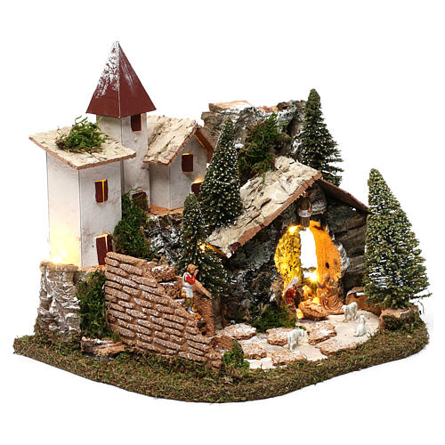 Nordic nativity scene village  20x25x20 cm 3
