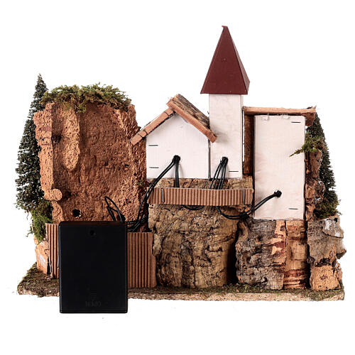 Nordic nativity scene village  20x25x20 cm 6
