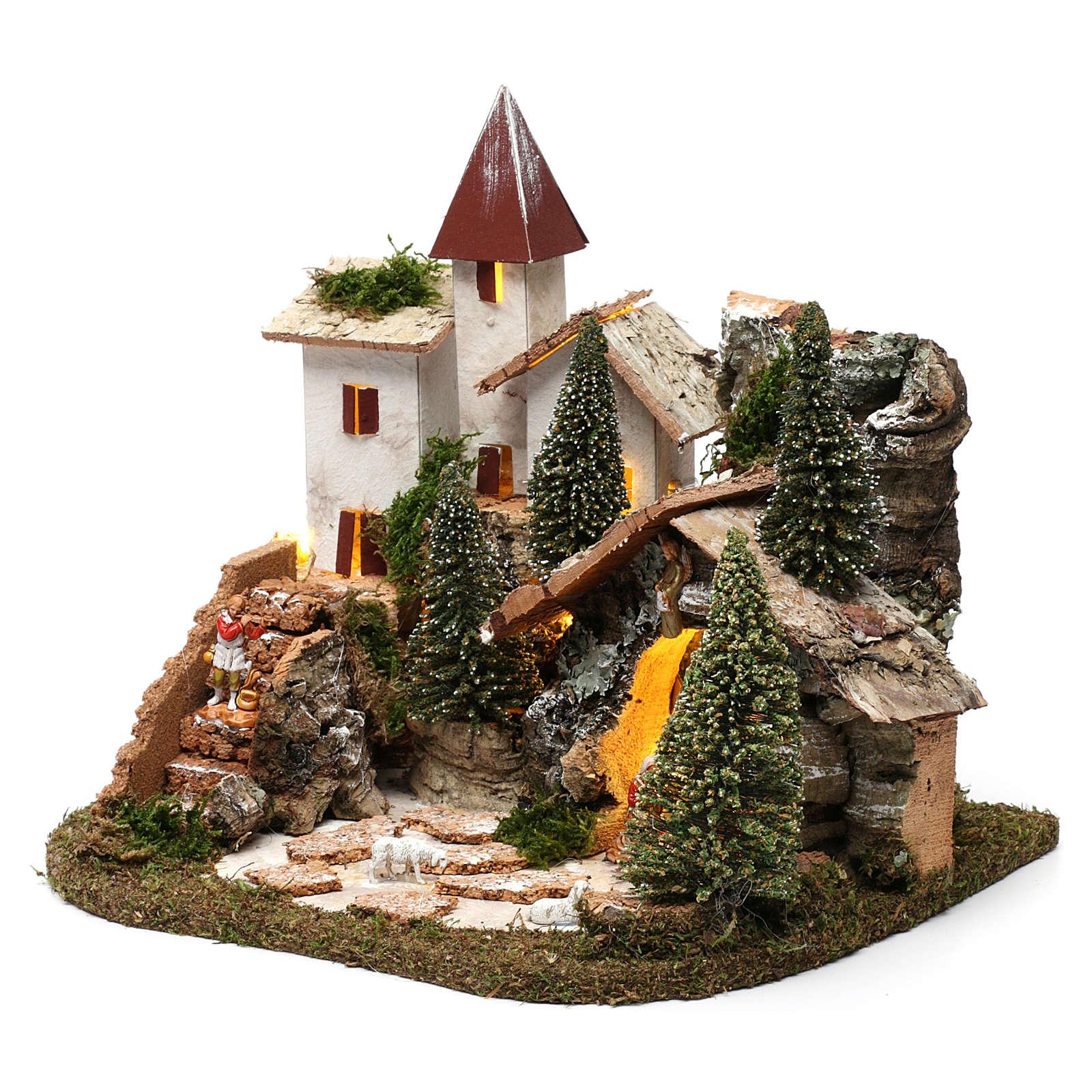 Village nordique pour crèche 19x25,5x19,5 cm 4
