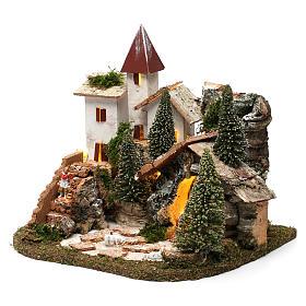 Villaggio nordico per presepe 20x25x20 cm s2