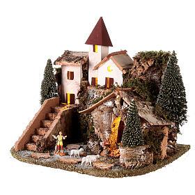 Villaggio nordico per presepe 20x25x20 cm s3