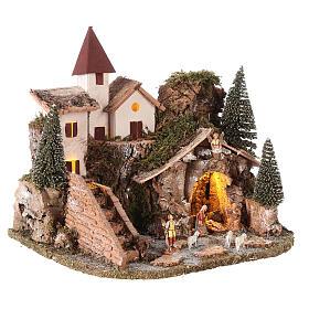 Villaggio nordico per presepe 20x25x20 cm s4