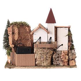 Villaggio nordico per presepe 20x25x20 cm s5