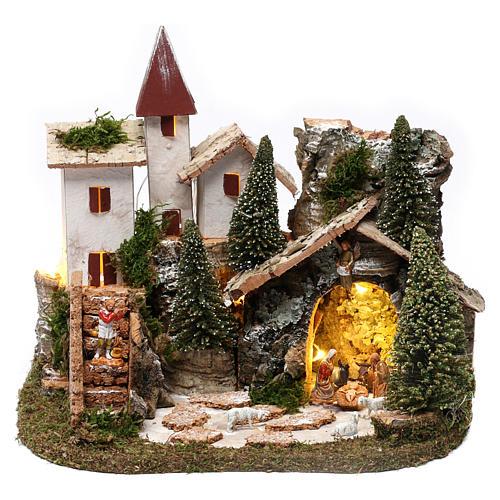 Villaggio nordico per presepe 20x25x20 cm 1