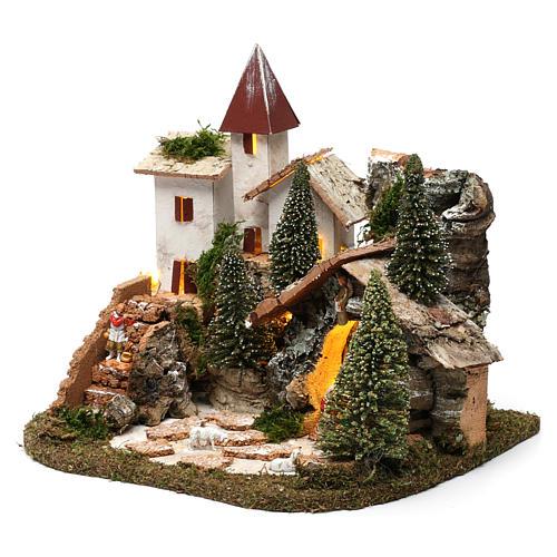 Villaggio nordico per presepe 20x25x20 cm 2
