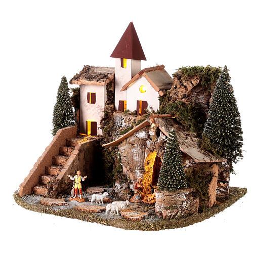 Villaggio nordico per presepe 20x25x20 cm 3