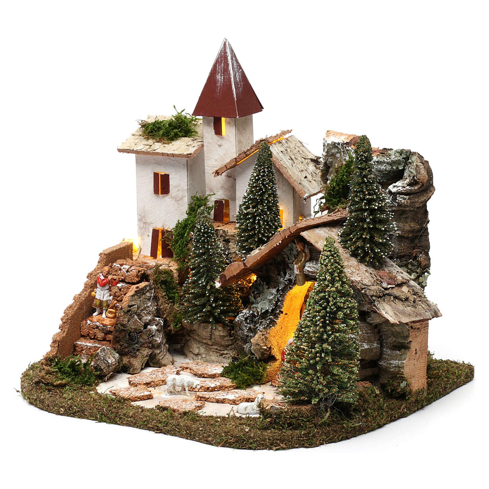 Nordic nativity scene village  20x25x20 cm 4