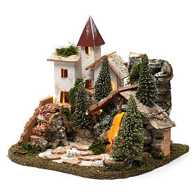 Nordic nativity scene village  20x25x20 cm s2