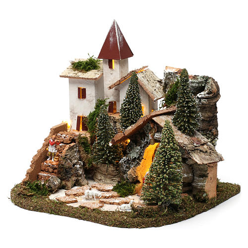 Nordic nativity scene village  20x25x20 cm 2
