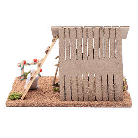 Hut with vegetable garden for nativity scene 20x25x20 cm s4
