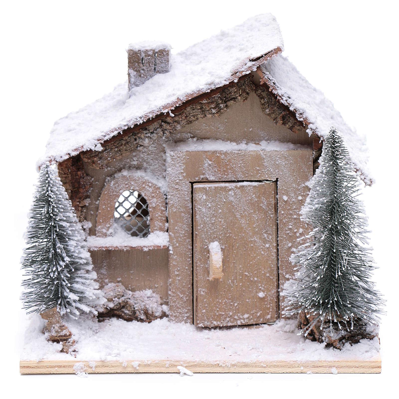 Casa di Babbo Natale 20x20x20 cm con movimento 4
