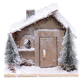 Casa di Babbo Natale 20x20x20 cm con movimento s2