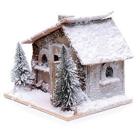 Casa di Babbo Natale 20x20x20 cm con movimento s3