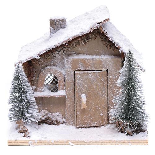 Casa di Babbo Natale 20x20x20 cm con movimento 2