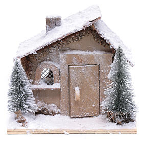 Father Christmas house 20x20x20 cm with movement s2