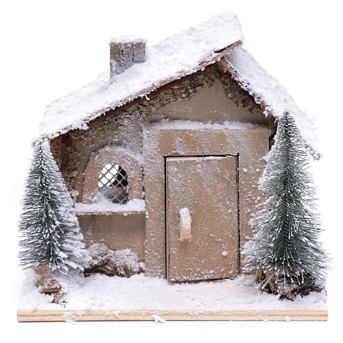Father Christmas house 20x20x20 cm with movement 2
