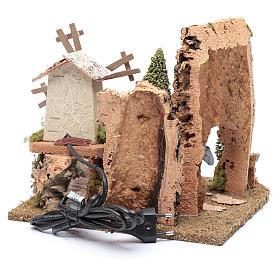 Nativity scene windmill with cart 20x25x20 cm s4