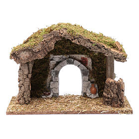 Hut with gypsum arch 25x35x15 cm s5