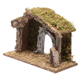 Hut with gypsum arch 25x35x15 cm s6