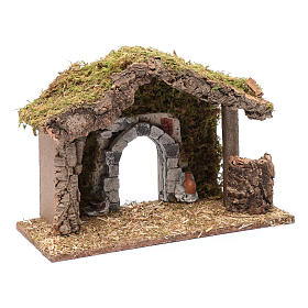 Hut with gypsum arch 25x35x15 cm s7