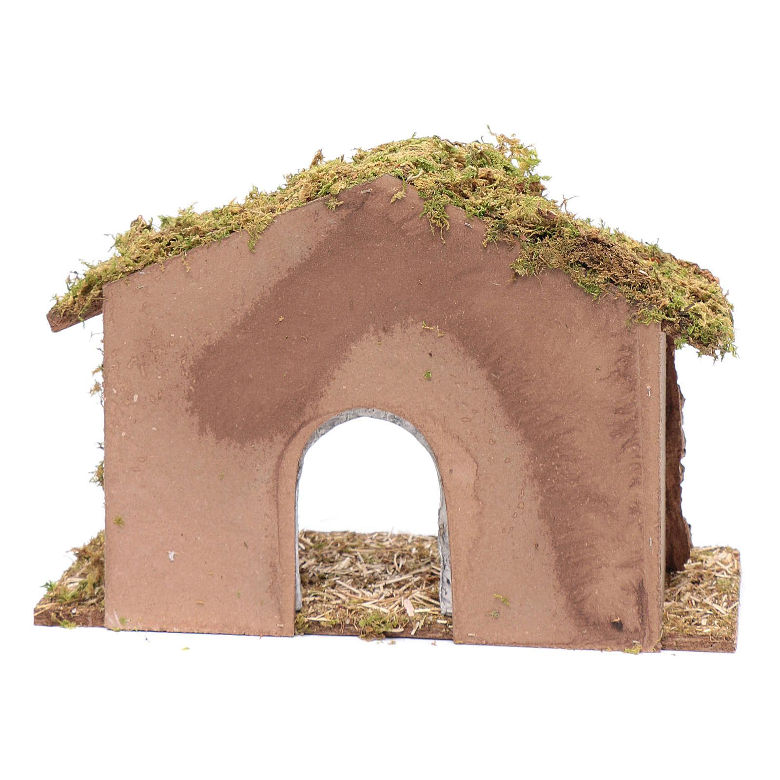 Cabaña con arco en yeso 25x35x15 cm 4