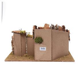 Establo y casitas en yeso para pesebre 30x60x40 cm s4