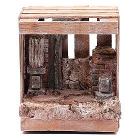 Capanna per presepe in legno 20x15x15 per statue 10 cm s1